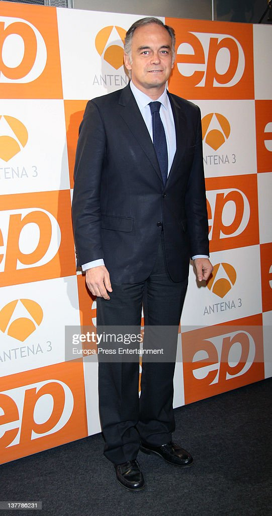 Esteban Gonzalez Pons attends 'Espejo Publico' 2012 Awards on January 26 2012 in Madrid Spain