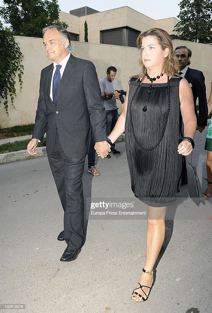 Esteban Gonzalez Pons attends the christening of Paloma Segrelles and Emilio Alvarez's daughters Paloma and Tiziana on June 28 2010 in Madrid Spain