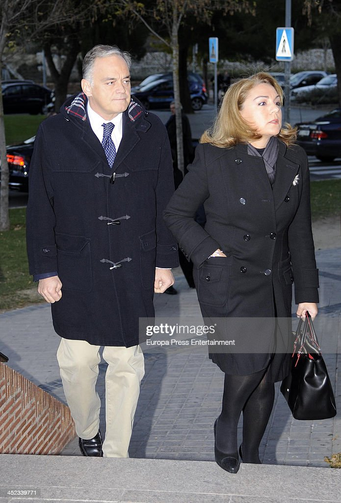 Esteban Gonzalez Pons attends the funeral for Irene Vazquez wife of ex minister of Justice Jose Maria Michavila and legal advisor of Shakira and...