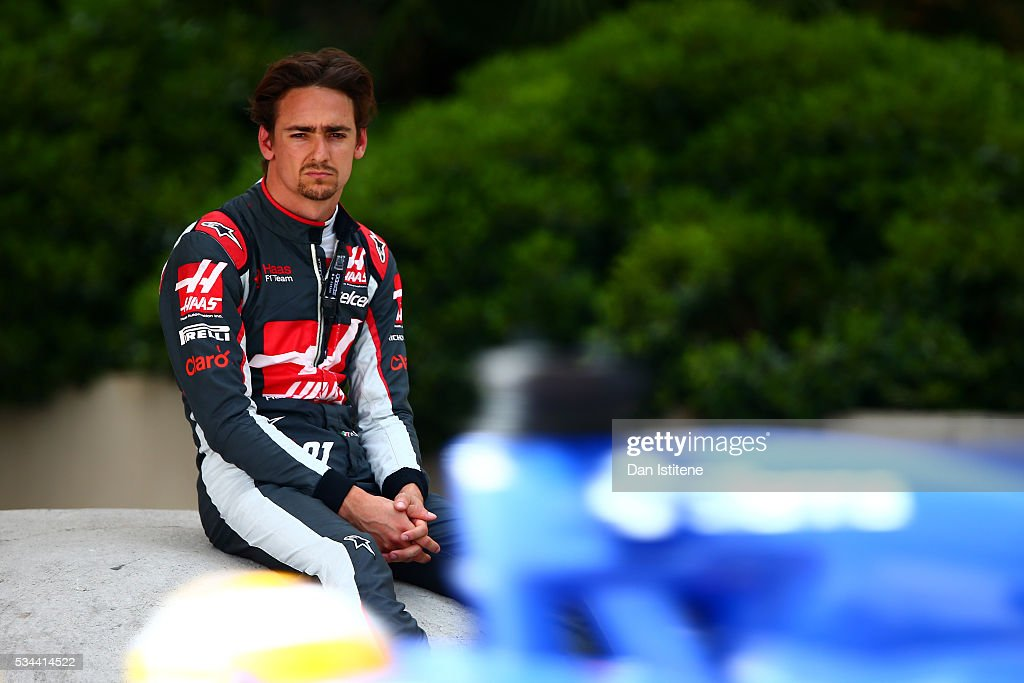 Esteban Gutierrez of Mexico and Haas F1 sits by the side of the circuit during practice for the Monaco Formula One Grand Prix at Circuit de Monaco on May 26, 2016 in Monte-Carlo, Monaco.