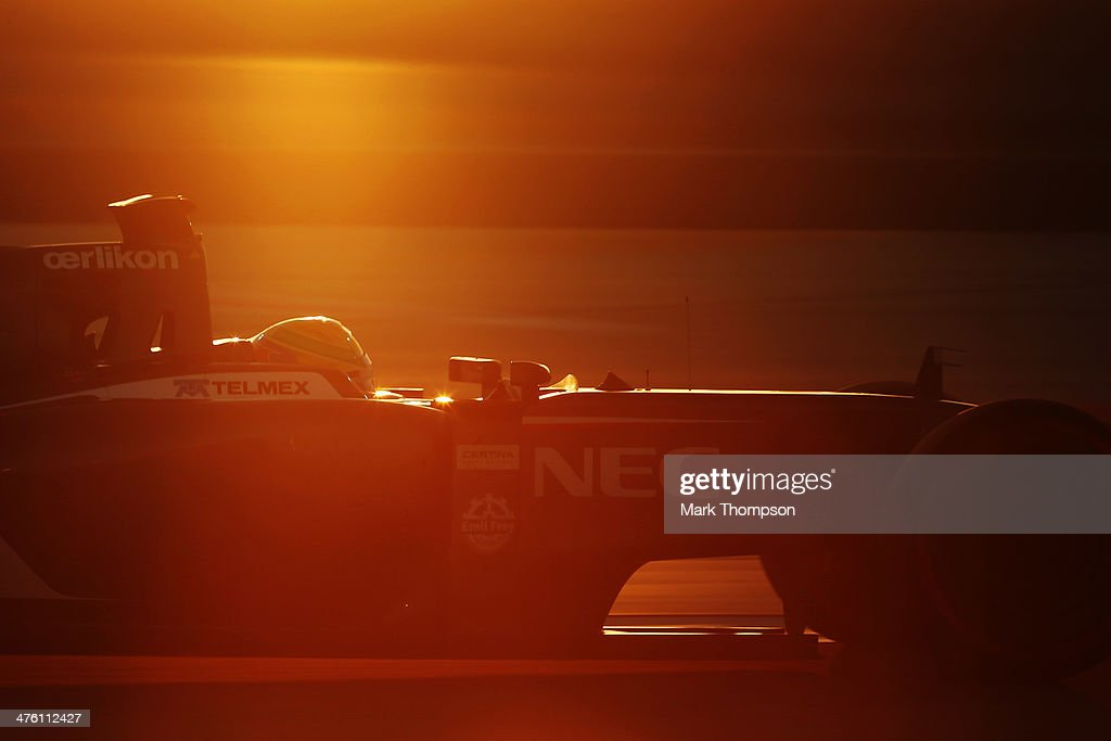 Esteban Gutierrez of Mexico and Sauber F1 drives during day four of Formula One Winter Testing at the Bahrain International Circuit on March 2, 2014 in Bahrain, Bahrain.