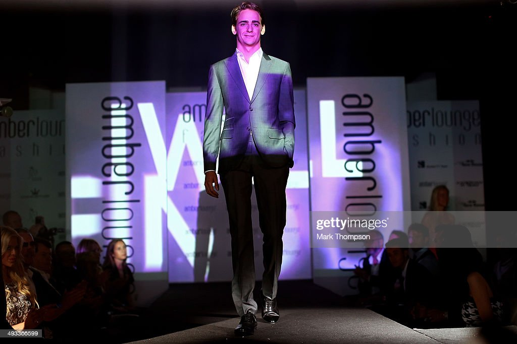 Esteban Gutierrez of Mexico and Sauber F1 takes part in the Amber Lounge Fashion Show ahead of the Monaco Formula One Grand Prix at Circuit de Monaco on May 23, 2014 in Monte-Carlo, Monaco.