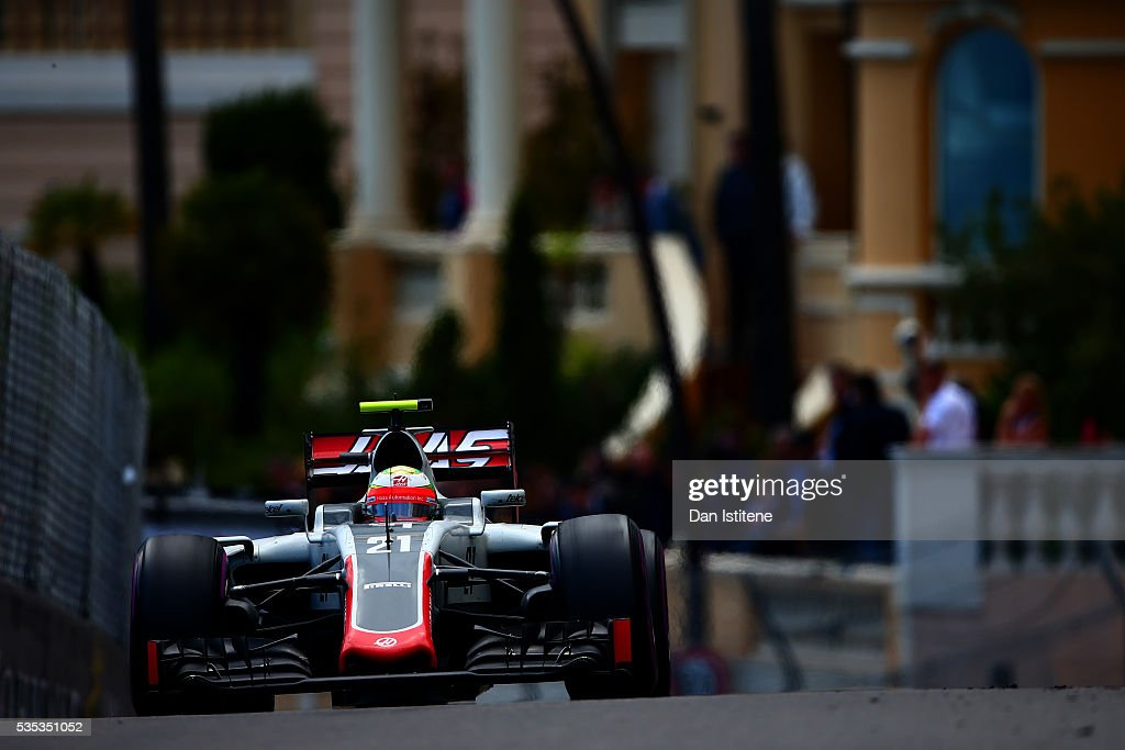 Esteban Gutierrez of Mexico drives the 1 drives the Haas F1 Team Haas-Ferrari VF-16 Ferrari 059/5 turbo during the Monaco Formula One Grand Prix at Circuit de Monaco on May 29, 2016 in Monte-Carlo, Monaco.