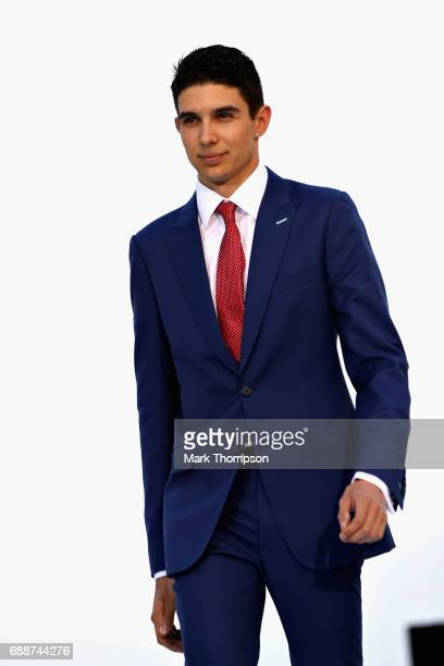 Esteban Ocon of France and Force India at the Amber Lounge fashion show during previews to the Monaco Formula One Grand Prix at Circuit de Monaco on...