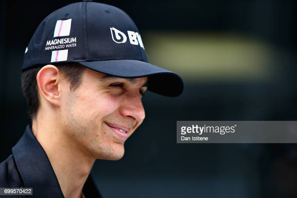 Esteban Ocon of France and Force India during previews ahead of the European Formula One Grand Prix at Baku City Circuit on June 22 2017 in Baku...