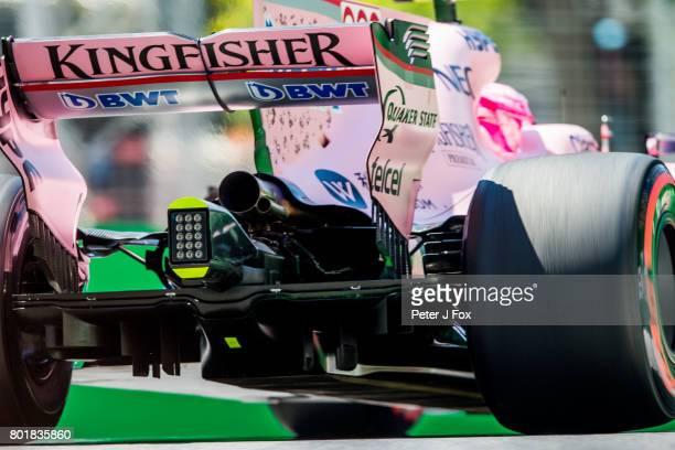 Esteban Ocon of France and Force India during the Azerbaijan Formula One Grand Prix at Baku City Circuit on June 25 2017 in Baku Azerbaijan