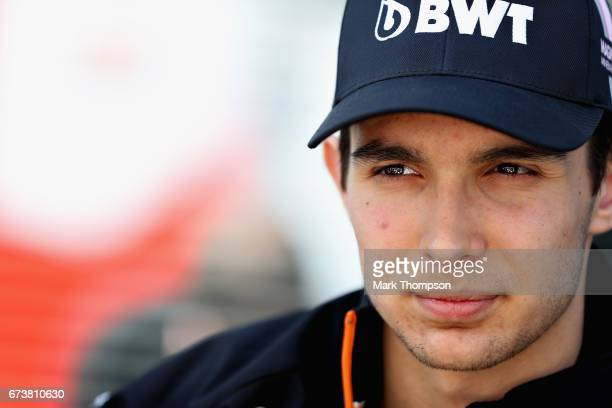 Esteban Ocon of France and Force India in the Paddock during previews to the Formula One Grand Prix of Russia on April 27 2017 in Sochi Russia