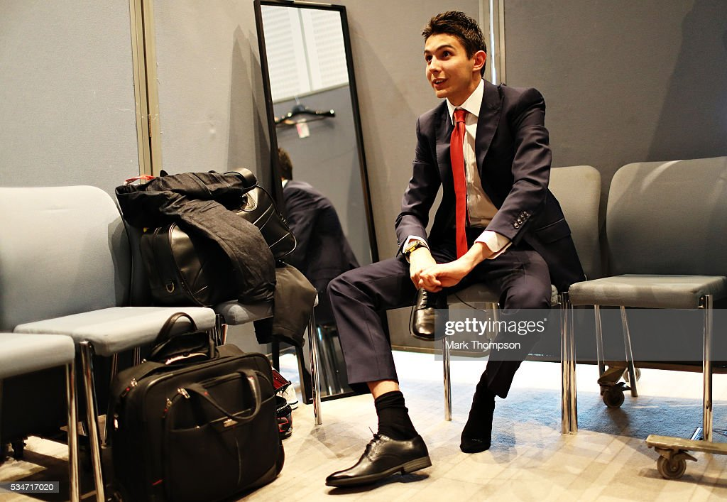 Esteban Ocon of France and Renault Sport F1 gets ready backstage at the Amber Lounge fashion show during previews to the Monaco Formula One Grand Prix at Circuit de Monaco on May 27, 2016 in Monte-Carlo, Monaco.