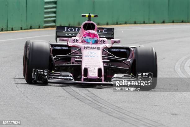Esteban Ocon of France driving for Sahara Force India F1 on Friday Free Practice during the 2017 Rolex Australian Formula 1 Grand Prix at Albert Park...