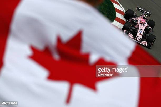 Esteban Ocon of France driving the Sahara Force India F1 Team VJM10 on track during practice for the Canadian Formula One Grand Prix at Circuit...