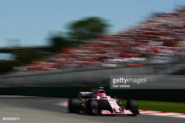 Esteban Ocon of France driving the Sahara Force India F1 Team VJM10 on track during final practice for the Canadian Formula One Grand Prix at Circuit...