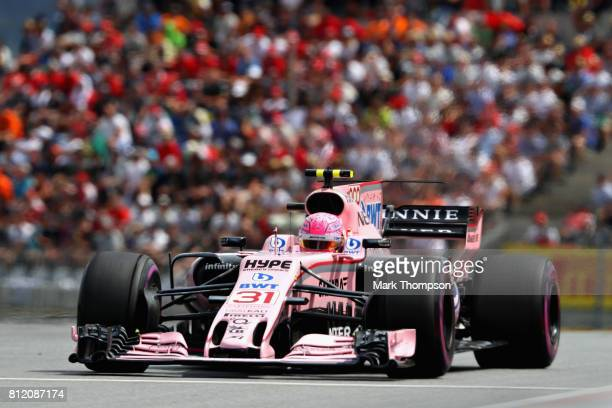 Esteban Ocon of France driving the Sahara Force India F1 Team VJM10 on track during the Formula One Grand Prix of Austria at Red Bull Ring on July 9...