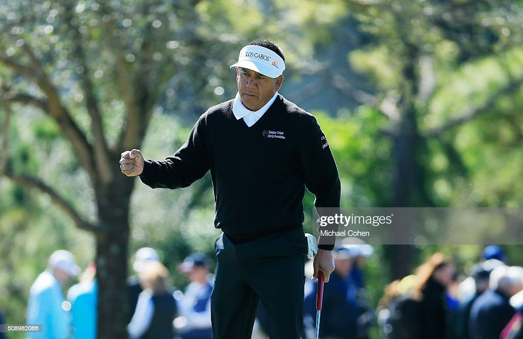 <a gi-track='captionPersonalityLinkClicked' href=/galleries/search?phrase=Esteban+Toledo&family=editorial&specificpeople=2823169 ng-click='$event.stopPropagation()'>Esteban Toledo</a> of Mexico celebrates his birdie on the 11th green during the final round of the Allianz Championship held at The Old Course at Broken Sound on February 7, 2016 in Boca Raton, Florida.
