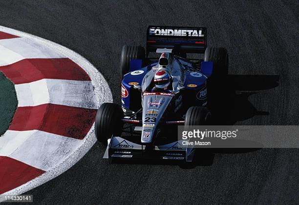 Esteban Tuero drives the Minardi Team SpA Minardi M198 Ford ZetecR 30 V10 during the Mobil 1 French Grand Prix on 28th June 1998 at the Circuit de...