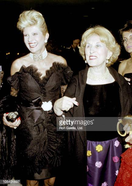 Estee Lauder and Ivana Trump during Salute to Duke Ellington at Lincoln Center in New York City New York United States