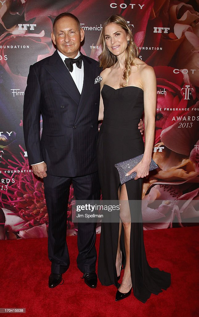 Estee Lauder group President John Demsey (L) and Annelise Peterson attend the 2013 Fragrance Foundation Awards at Alice Tully Hall at Lincoln Center on June 12, 2013 in New York City.