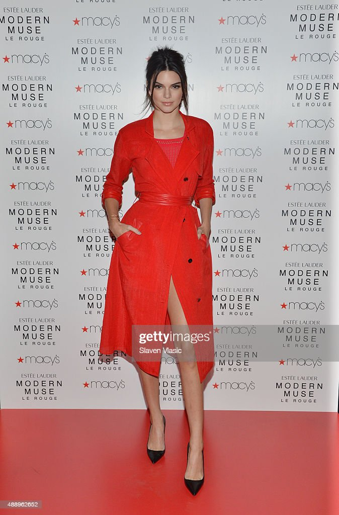 Estee Lauder model Kendall Jenner launches Modern Muse Le Rouge at Macy's Herald Square on September 18, 2015 in New York City.