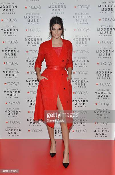 Estee Lauder model Kendall Jenner launches Modern Muse Le Rouge at Macy's Herald Square on September 18 2015 in New York City