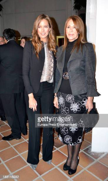 Estefania Luyck and Paquita Torres attend a charity wine presentation by Emilio Moro Foundation at Matadero on November 16 2011 in Madrid Spain