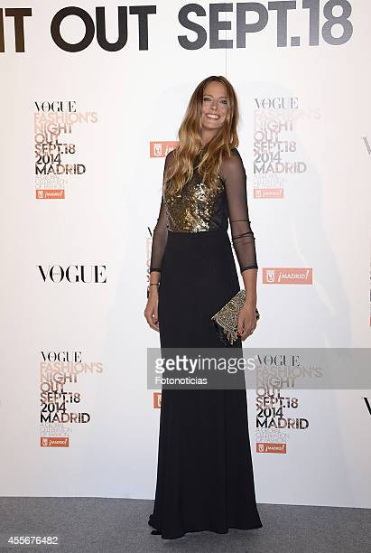 Estefania Luyck attends the Vogue Fashion's Night Out Madrid 2014 on September 18 2014 in Madrid Spain