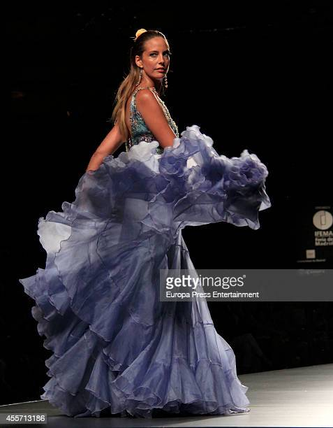 Estefania Luyk showcases designs by Francis Montesinos on the runway during Mercedes Benz Fashion Week Madrid Spring/Summer 2015 at Ifema on...