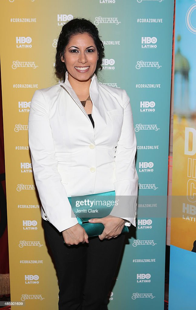 Estefania Szprengiel attends the HBO Latino NYC Premiere of 'Santana: De Corazon' at Hudson Theatre on April 16, 2014 in New York City.