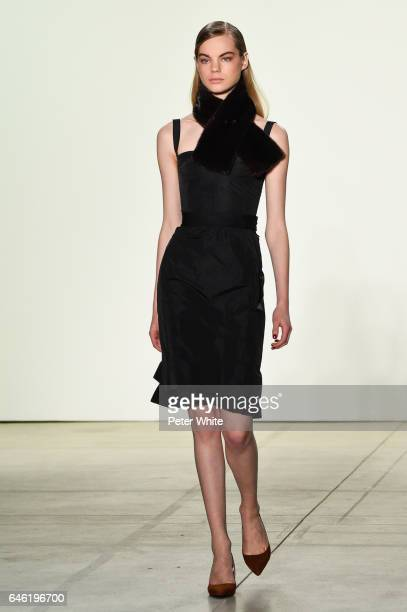 Estella Boersma walks the runway at Brock Collection Show during New York Fashion Week Fall Winter 20172018 at Gallery 2 Skylight Clarkson Sq on...