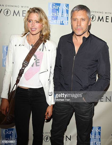 Estella Warren and Max Ryan arrive at the LA Gay Lesbian Center presents An Evening with Women kickoff concert held at The Roxy Theatre on March 15...