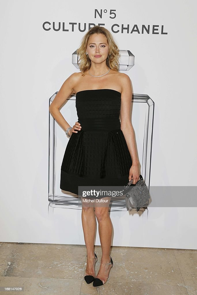 Estella Warren attends the 'No5 Culture Chanel' Exhibition - Photocall at Palais De Tokyo on May 3, 2013 in Paris, France.