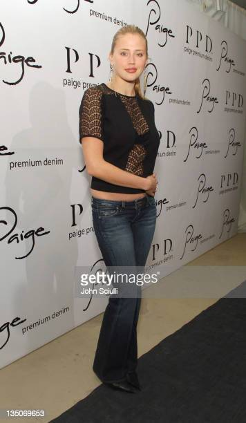 Estella Warren during Paige Premium Denim Party Red Carpet and Inside at Paige Premium Denim Flagship Store in Beverly Hills California United States