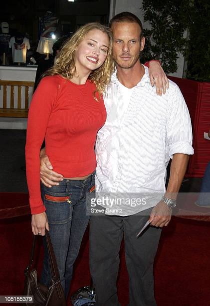 Estella Warren Peter Berg during 'American Wedding' Premiere in Universal City California United States