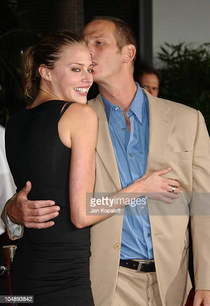 Estella Warren Peter Berg during World Premiere of 'The Rundown' at Universal Amphitheatre in Universal City California United States