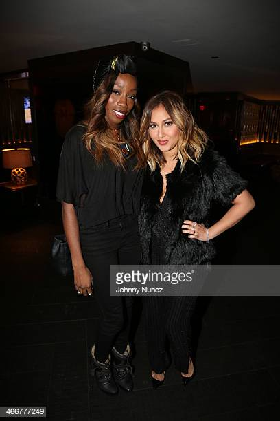 Estelle and Adrienne Bailon attend the 'About Last Night' screening dinner on February 3 2014 in New York City
