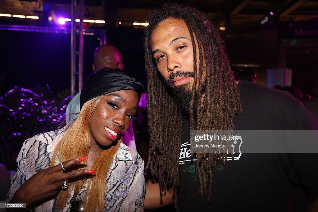 Estelle and Bazaar Royale attend the 2013 Essence Festival at the Mercedes-Benz Superdome on July 6, 2013 in New Orleans, Louisiana.
