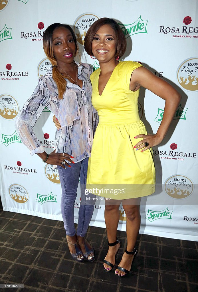 <a gi-track='captionPersonalityLinkClicked' href=/galleries/search?phrase=Estelle+-+Singer&family=editorial&specificpeople=206205 ng-click='$event.stopPropagation()'>Estelle</a> and Cori Murray attend the Essence Day party at the W New Orleans on July 6, 2013 in New Orleans, Louisiana.