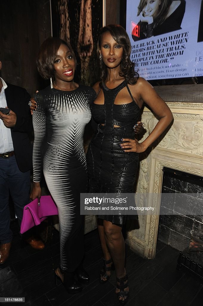 Estelle and Iman attends the Destination Iman Website Launch Party at Dream Downtown on September 7, 2012 in New York City.