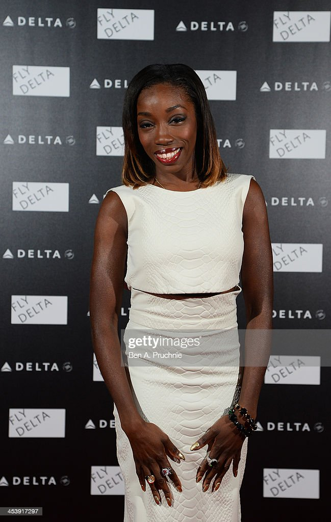 Estelle attends Delta Air Lines Presents A Night Under The Bridge at Stamford Bridge on December 5, 2013 in London, England.