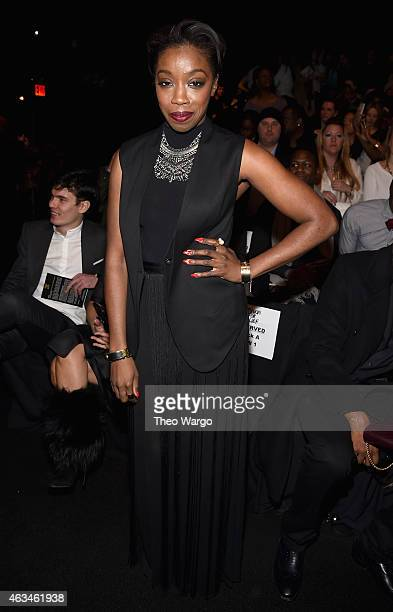 Estelle attends Naomi Campbell's Fashion For Relief Charity Fashion Show during MercedesBenz Fashion Week Fall 2015 at The Theatre at Lincoln Center...