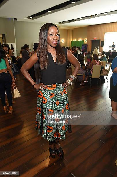 Estelle attends Rosa Regale Presents Paint The Town Red with Estelle at TWELVE Atlantic Station on September 6 2014 in Atlanta Georgia