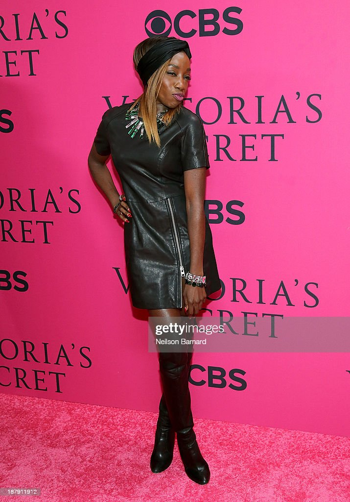 Estelle attends the 2013 Victoria's Secret Fashion Show at Lexington Avenue Armory on November 13, 2013 in New York City.