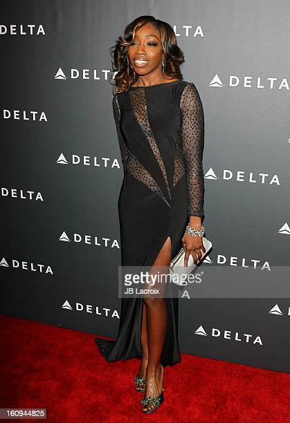Estelle attends the Delta Airlines GRAMMY Week LA Music Industry held at The Getty House on February 7 2013 in Los Angeles California