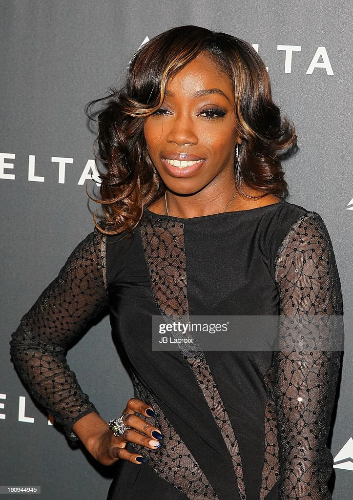 Estelle attends the Delta Airlines GRAMMY Week LA Music Industry held at The Getty House on February 7, 2013 in Los Angeles, California.