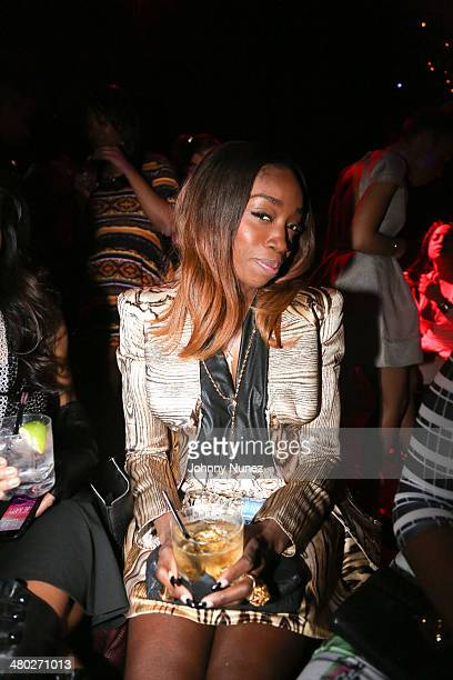 Estelle attends the Legendary Damons annual LUXXBALL at Marquee on March 23 2014 in New York City