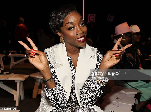 Estelle attends the Milly By Michelle Smith fashion show during MercedesBenz Fashion Week Fall 2015 at ArtBeam on February 16 2015 in New York City