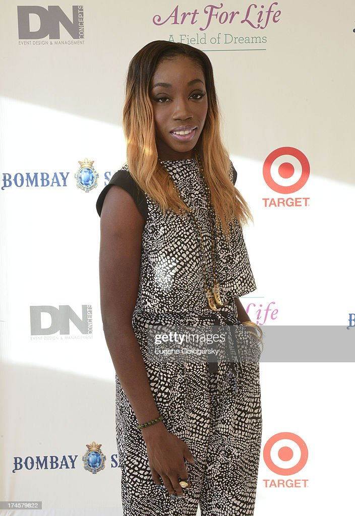 Estelle attends the Russell Simmons 14th Annual Art For Life Benefit Sponsored By BOMBAY SAPPHIRE Gin at Fairview Farms on July 27, 2013 in Bridgehampton, New York.