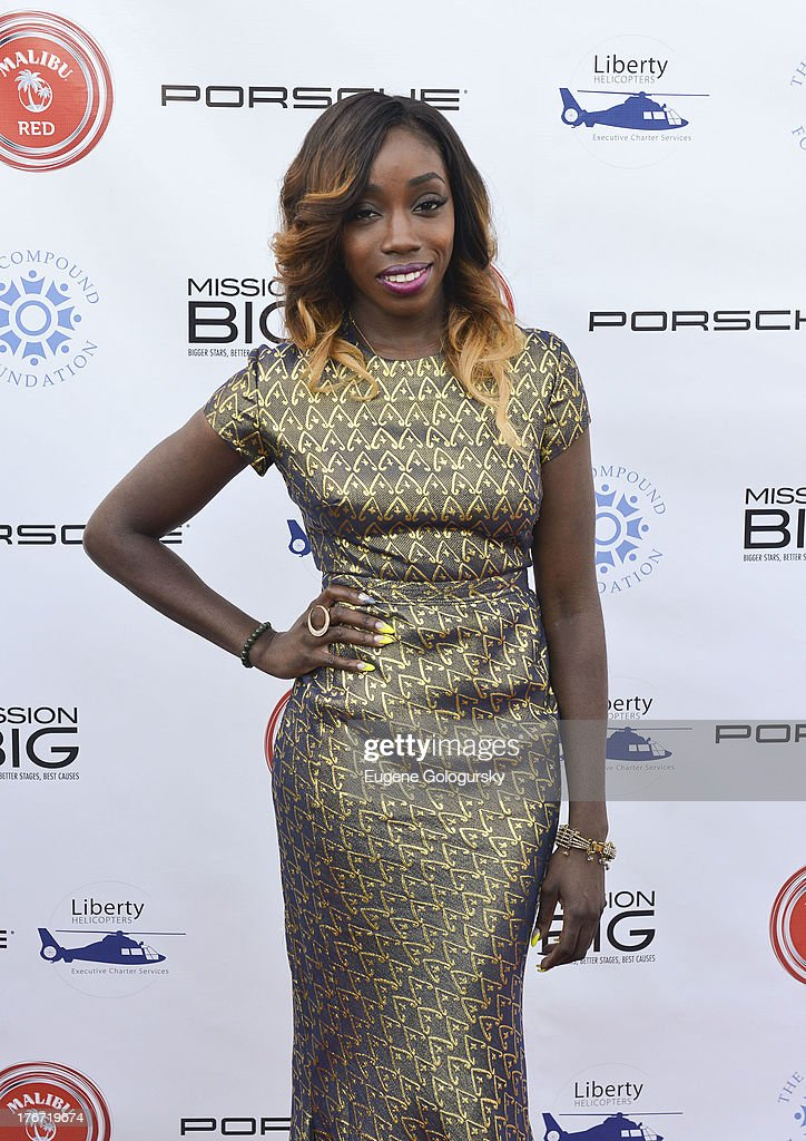 <a gi-track='captionPersonalityLinkClicked' href=/galleries/search?phrase=Estelle+-+Singer&family=editorial&specificpeople=206205 ng-click='$event.stopPropagation()'>Estelle</a> attends the The Compound Foundation 2nd Annual 'Fostering A Legacy' Benefit Hosted By Ne-YO & Mission BIG on August 17, 2013 in East Hampton, New York.