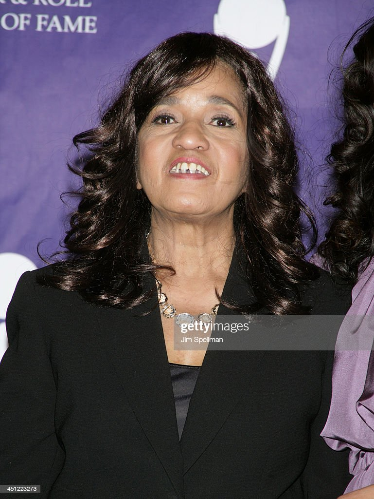 Estelle Bennett of The Ronettes, inductee during 22nd Annual Rock and Roll Hall of Fame Induction Ceremony - Press Room at Waldorf Astoria in New York City, New York, United States.