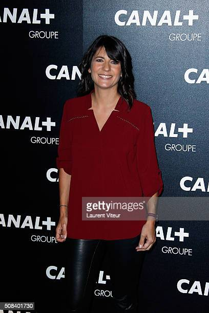 Estelle Denis attends the 'Canal Animators' Party At Manko on February 3 2016 in Paris France