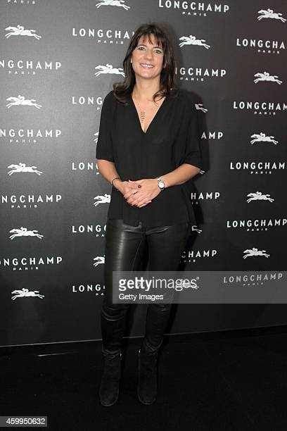 Estelle Denis attends the Longchamp Elysees 'Lights on Party' Boutique Launch on December 4 2014 in Paris France
