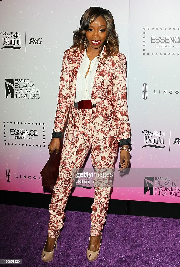 Estelle Fanta Swaray attends the 4th Annual Essence Black Women In Music Event at Greystone Manor Supperclub on February 6, 2013 in West Hollywood, California.
